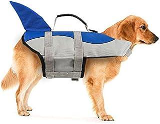 Xiaoyu Chaleco Salvavidas para Perros, Chaleco Salvavidas Ajustable para Mascotas, Salvavidas para Mascotas, Chaleco Salvavidas para Nadadores Principiantes, Azul, S