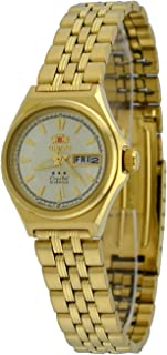 Orient #FNQ1S001C Women's Gold Tone Tri Star Gold Dial Automatic Watch