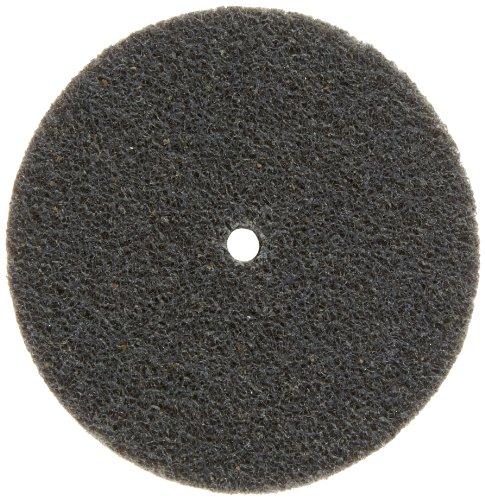 Scotch-Brite EXL Unitized Wheel, Silicon Carbide, 10000 rpm, 3' Diameter, 1/4' Arbor, 2S Fine Grit (Pack of 1)