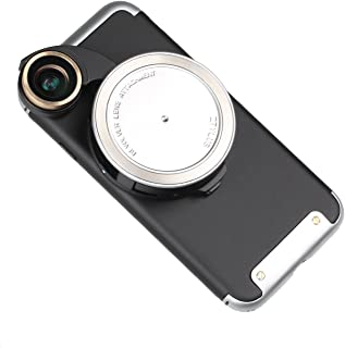 Ztylus 4-in-1 Revolver Lens Smartphone Camera Kit for iPhone 8: Super Wide Angle, Macro, Fisheye, CPL, Protective Case, Phone Camera, Photo Video (Silver)