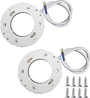 LumenTY 2 Piezas GX53 Base de montaje en superficie Soporte Conector Lámparas LED GX53 y CFL para Debajo de La Cocina Armarios de Exhibición Interior [Clase de eficiencia energética A+]