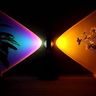 Bobelle Sunset Lamp Light,Sunset Lampe Coucher de Soleil,Lampe Projection Sunset,Conception à Double Ouverture,Rotation 18...