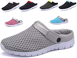 CCZZ Men's and Women's Garden Clogs Shoes Summer Breathable Mesh Sandals Slippers Quick Drying Water Shoes