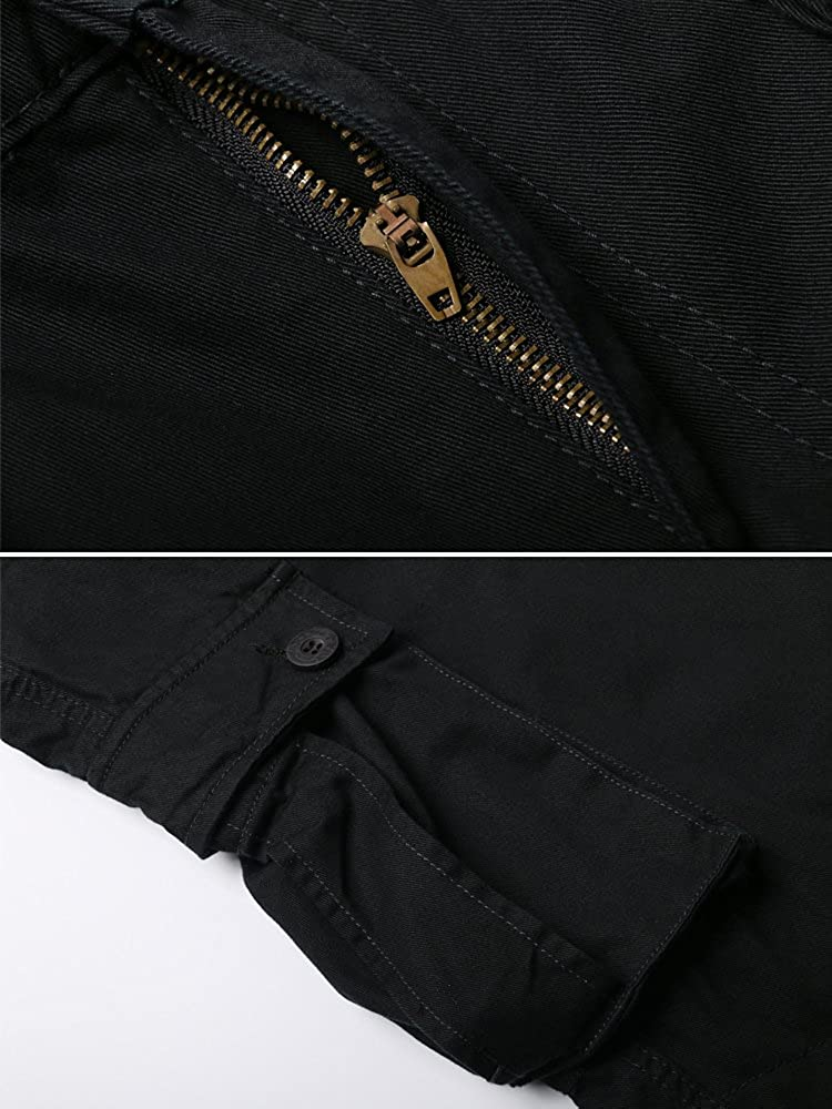 OCHENTA Mens Casual Military Cargo Pants 8 Pockets Work Combat Outdoor Trousers