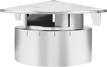 Skyflame Stainless Steel Grill Chimney Top Vent Cap Replacement for Medium Large and XLarge Size Big Green Egg
