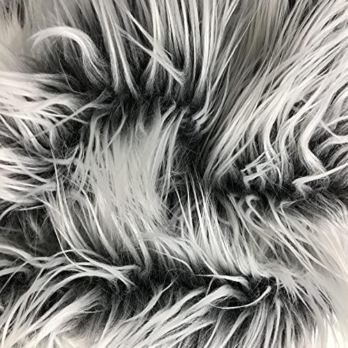Artificial Fur Fabric Rainbow Bags Clothing Sewing Xmas Craft Supplies DIY Decor