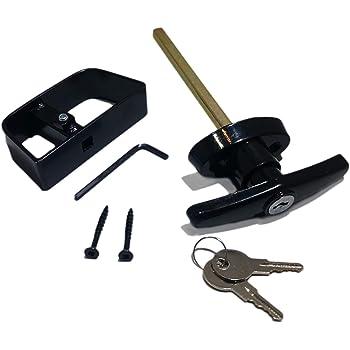 Amazon Com Shed Door T Handle Lock Kit Includes 2 Keys 2 Screws Allen Wrench 4 1 2 Stem Shed Lock Barn Door Lock Playhouse Lock Chicken Coop Lock Black Home Improvement