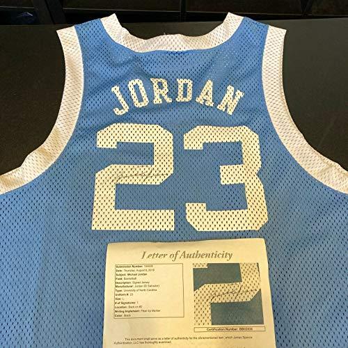 Michael Jordan Signed Autographed North Carolina Tar Heels Jordan Jersey JSA COA