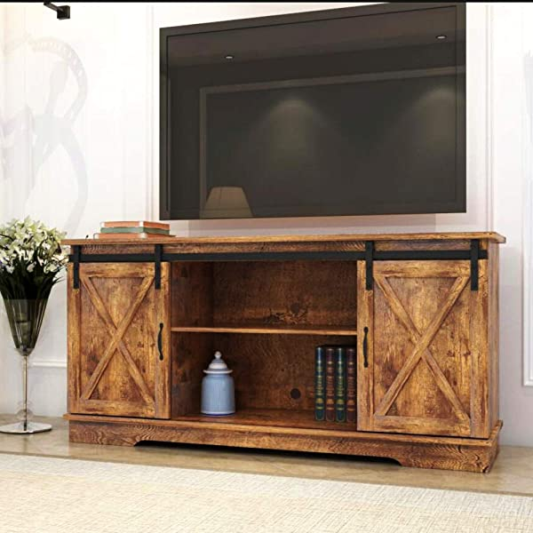 Rainbow Sophia Forest Series Wooden TV Stand For TVs Up To 65 Rustic Wood