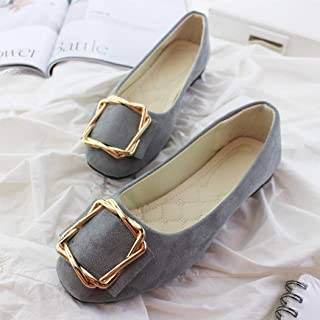[WOOYOO] ペタンコ靴 レディース オフィスシューズ フラット オシャレ ベルト付き 大きいサイズ 小さい スエード 浅履き 婦人靴 美脚 クッション カラフル おじ靴 疲れない スリッポン 通勤OL ブラック