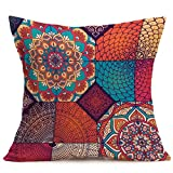 Highpot Big Sale Boho Sofa Bed Office Car Home Decor, Square 43CM×43CM Bohemian Pattern Cushion Cover Throw Pillow Case (E)
