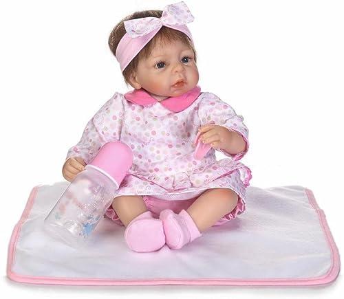 QXMEI Baby Puppen 16  Weißhe Silikon Wiedergeborene Baby Puppen, Die Reales Neugeborenes Baby Spielzeug Geschenk Schauen