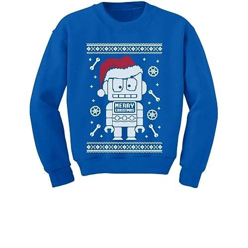 19eedddc TeeStars - Cute Robot Santa Ugly Christmas Sweater - Funny Xmas Kids  Sweatshirt