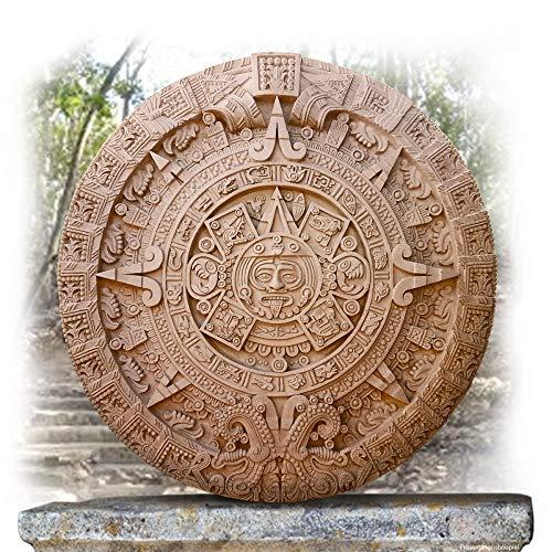 Mondland Verlag Maya Kalender Relief-Steinplatte Wandkalender Metallic - lackiert