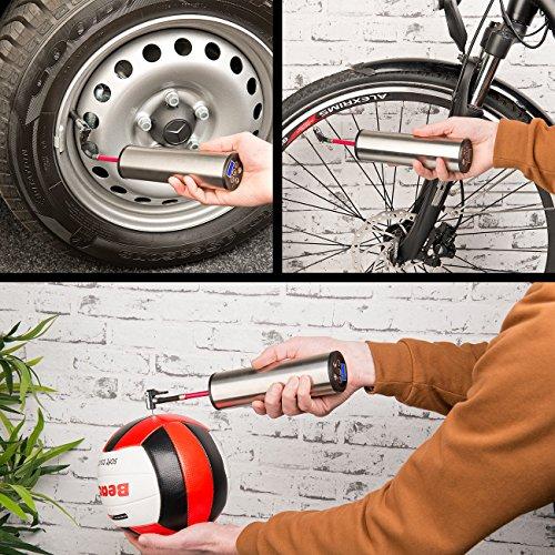 AGT Professional Akku-Kompressor-Luftpumpe für Reifen, Bälle u.v.m, LCD, bis 150 psi