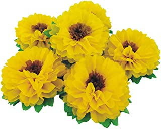 Mybbshower Tissue Paper Sunflowers Decorations for Wall Birthday Party Backdrop Home Decoration Pack of 6