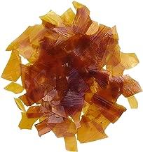 Dewaxed Orange Shellac Flakes. (Orange, 8 oz)