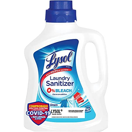 Lysol Laundry Sanitizer, Aditivo Desinfectante Crisp Linen, 90 oz (Tapa puede variar)