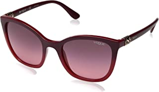 VOGUE Women's VO5243SB Butterfly Sunglasses, Top Red Grad Opal Coral/Pink Gradient Violet, 53 mm