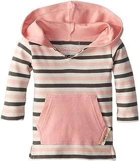 Lovedbaby Baby-Girls Organic Hoodie, Coral Stripe, 18-24m
