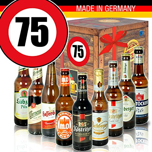 Geburtstagsgeschenk - Ostdeutsche Biere - Zahl 75 - Geburtstags Geschenk Oma