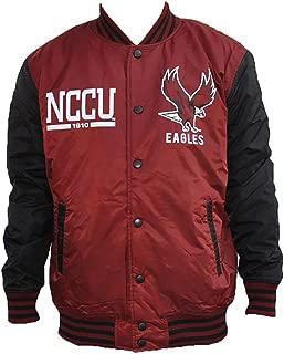 North Carolina Central University Maroon Black Lightweight Varsity Jacket Black College Fraternity HBCU Mens Coat Jacket