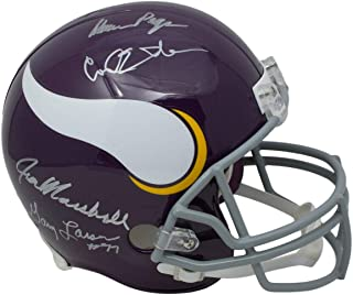 Purple People Eaters Signed Helmet - Full Size Throwback Replica BAS - Beckett Authentication - Autographed NFL Helmets