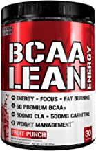 Evlution Nutrition BCAA Lean Energy - Energizing Amino Acid for Muscle Building Recovery and Endurance, with a Fat Burning Formula, 30 Servings (Fruit Punch)