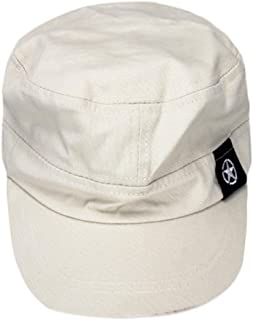 7c26cc424719e Appoi Flat Roof Military Hat Cadet Patrol Bush Hat Baseball Field Cap  Enzyme Washed Cotton Twill