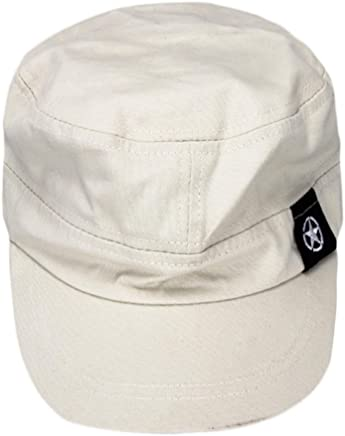 Appoi Flat Roof Military Hat Cadet Patrol Bush Hat Baseball Field Cap Enzyme Washed Cotton Twill