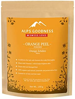 Alps Goodness Orange Peel Powder for Skin & Hair (250 g) - Helps in Skin Brightening, Reduces Damaged Hair & Soothes Scalp...