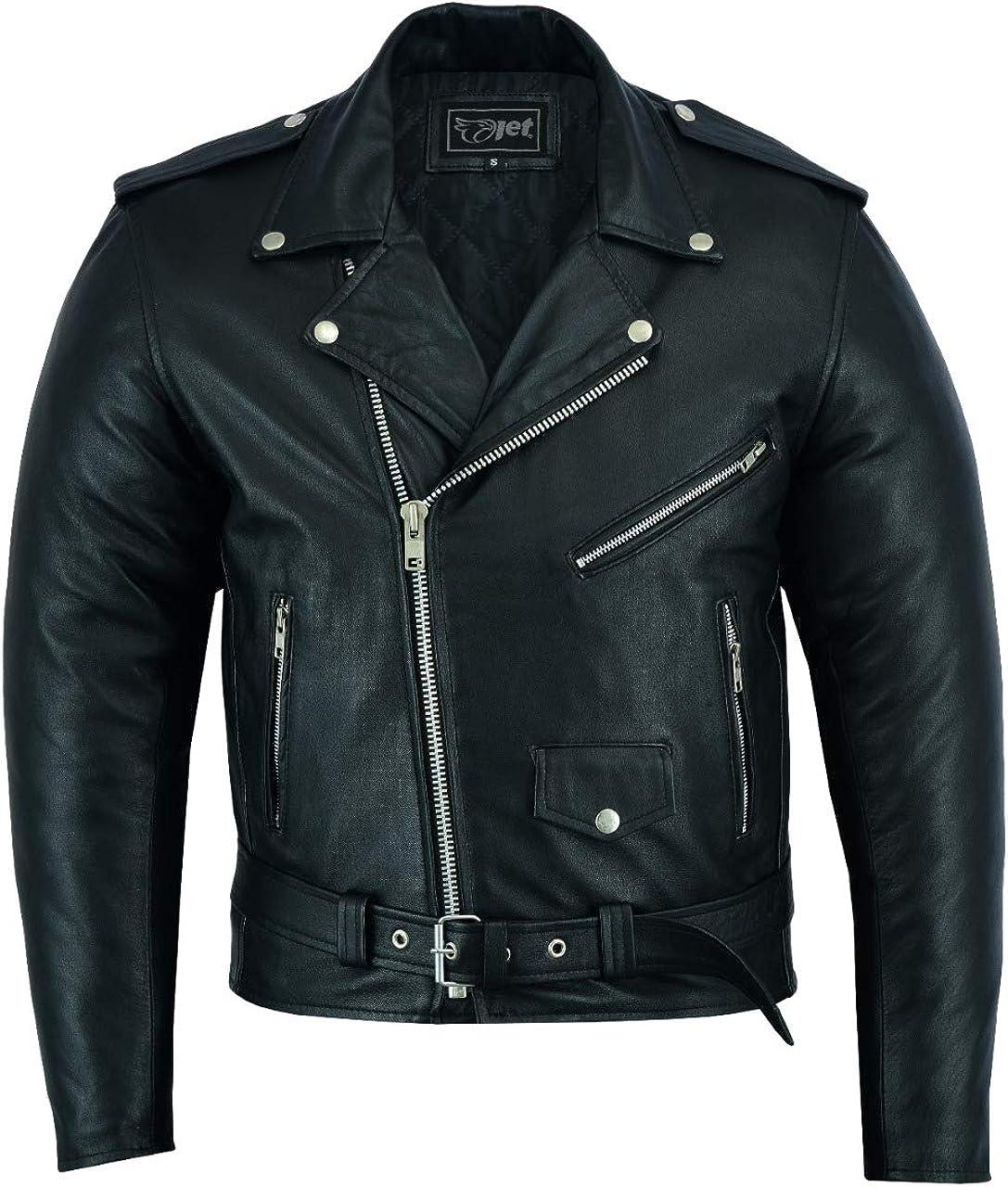 Portland Hide Mens Leather Jacket Fashion Premium Soft Feel Lamb Skin Classic Vintage Iconic Retro