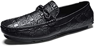 Trendy Leisure Boat Shoes Driving Penny Loafers for MenSlip On Genuine Leather Faux Crocodile Skin Super Flexible Elegant Decoration Stitched Breathable Lightweight Boat Shoes