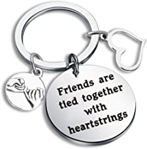 WUSUANED Long Distance Best Friend Keychain Friends are Tied Together with Heartstrings Friendship Jewelry BFF Gift