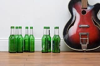 Guitar and Beer Bottles Photo Photograph Cubicle Locker Mini Art Poster 12x8