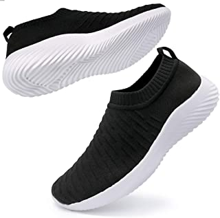 Ablanczoom Womens Walking Shoes Lightweight Elastic Sock Athletic Running Shoes Slip On Mesh Sneakers Comfort Work Shoes