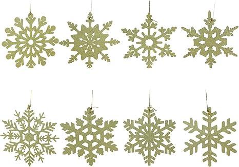 Weihnachtsbaum Schneemann Schneeflocke Kugelkette Dekorationen Gold Hängen