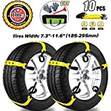 MeiLiMiYu Snow Chains for SUV Car Anti Slip Adjustable Universal Emergency Tire Chains for Tire Width...