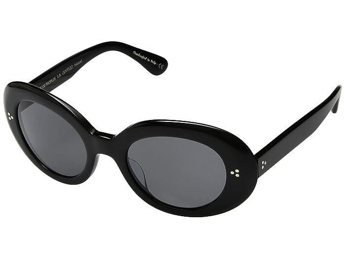 Oliver Peoples Erissa (Black/Grey Lens) Fashion Sunglasses