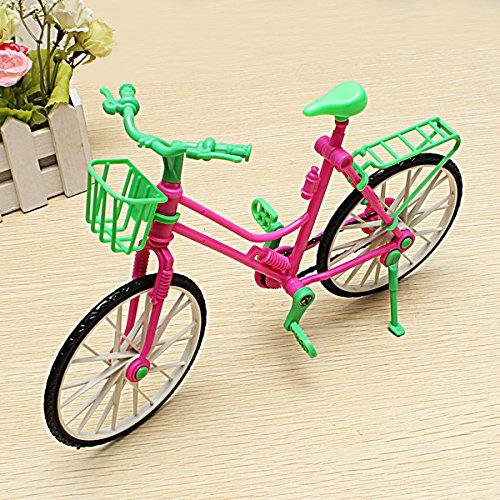 KingFly ミニチュア取り外し可能な自転車のおもちゃ バービーはフィット 回転式ホイール