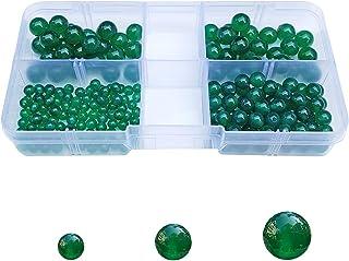 Chengmu 4mm 6mm 8mm Stone Beads Kit for Jewelry Making 215pcs Natural Stone Gemstone Round Loose Beads Set for Bracelet Ne...