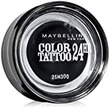 Maybelline New York Tattoo 24H Sombra de Ojos, Tono: nº60 Timeless Black