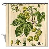 rioengnakg Pflanzen Dekoration Wasserdicht Polyester Duschvorhang, #1, 72