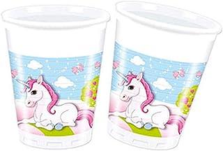 Procos 8 Plastic Cups 200Ml Unicorn