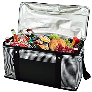 Picnic at Ascot Ultimate Day Cooler- Combines Best Qualities of Hard & Soft Collapsible Coolers - Houndstooth