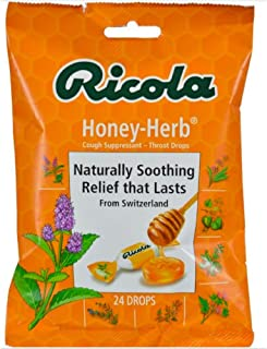 Ricola USA, Inc. Throat Drop, Honey-Herb, 24-Count (Pack of 6)