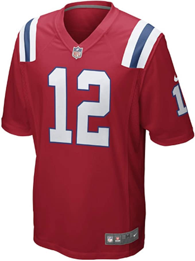 Nike Tom Brady New England Patriots Youth Boys Throwback Game Jersey - Red