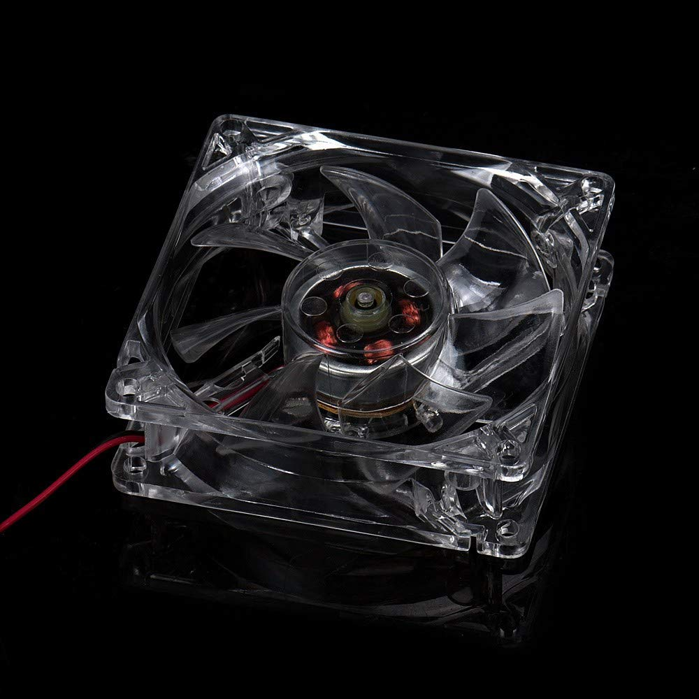 CAOQAO - 1 Pieza de 8 cm de luz Azul LED de Repuesto de radiador Rdinador/PC/CPU, Caja de PC de Repuesto de radiador o de aspas de Ventilador de chasis: Amazon.es: Hogar