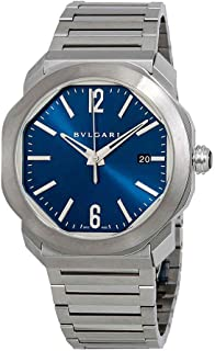Bvlgari Octo Roma Automatic Blue Dial Mens Watch 102856