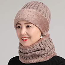 Middle-Aged and Elderly Hats Winter Warm Plus Plush Wool Hat Mom Granny Old Old Head Hat Dad